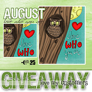 Giveaway august