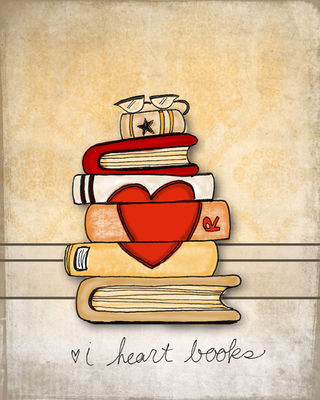 I heart books sm