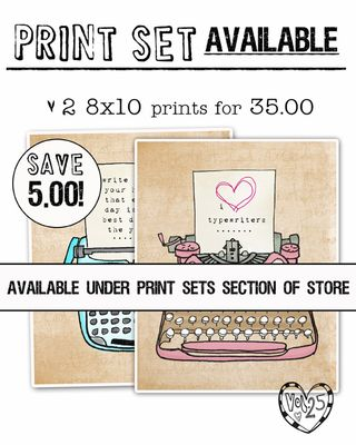 Print set available typewriters
