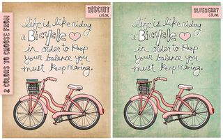 Life is like riding a bicycle colors sm