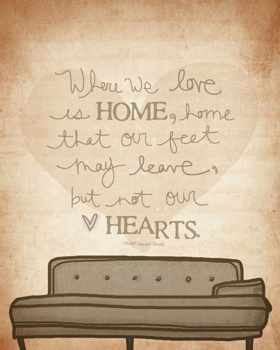 Where we love is home sm