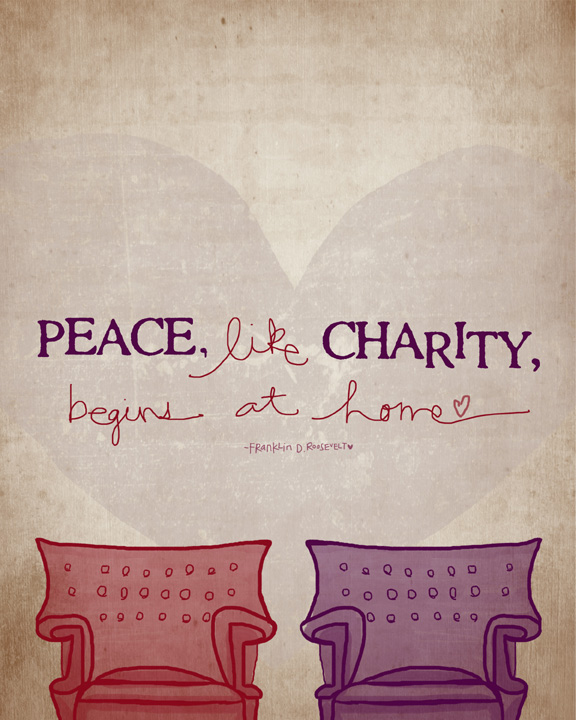 Peace like charity sm