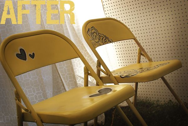Vol 25 Before And After Painted Metal Folding Chairs