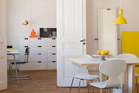 Interior design yellow