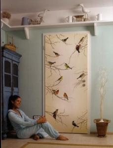 Wall mural door