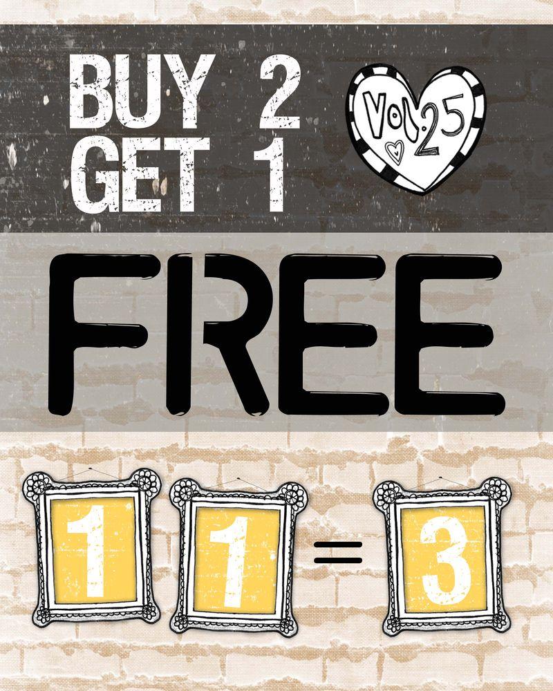 Buy 2 get 1 free sale copy