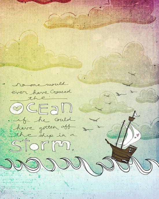Sailing the storm web