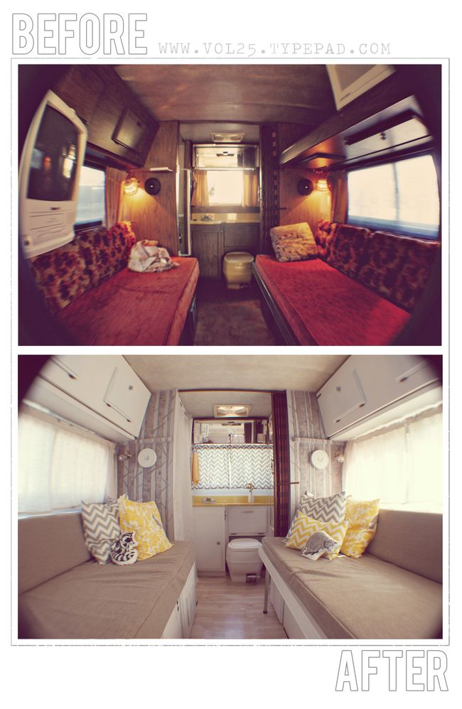 Vintage motorhome before and afters - Interior caravana ...