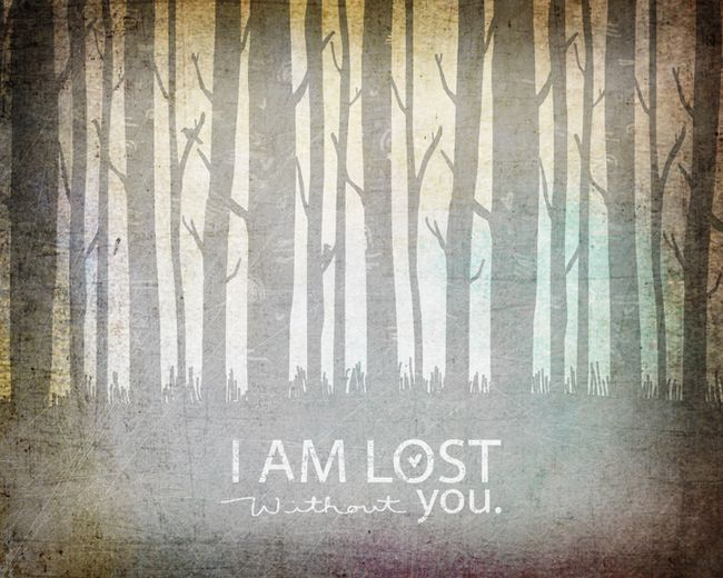 I AM LOST WITHOUT YOU web