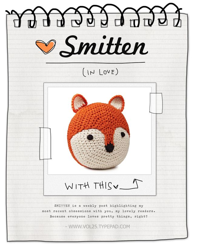 SMITTEN UNCOMMON GOODS FOX PILLOW