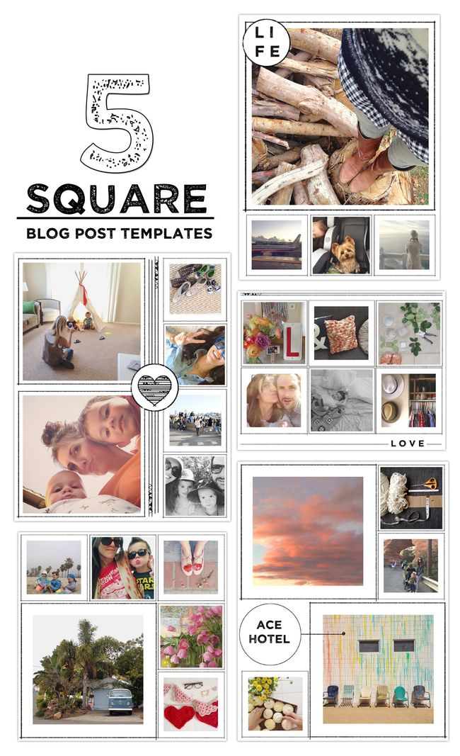 SQUARE BLOG POST TEMPLATES BY VOL25