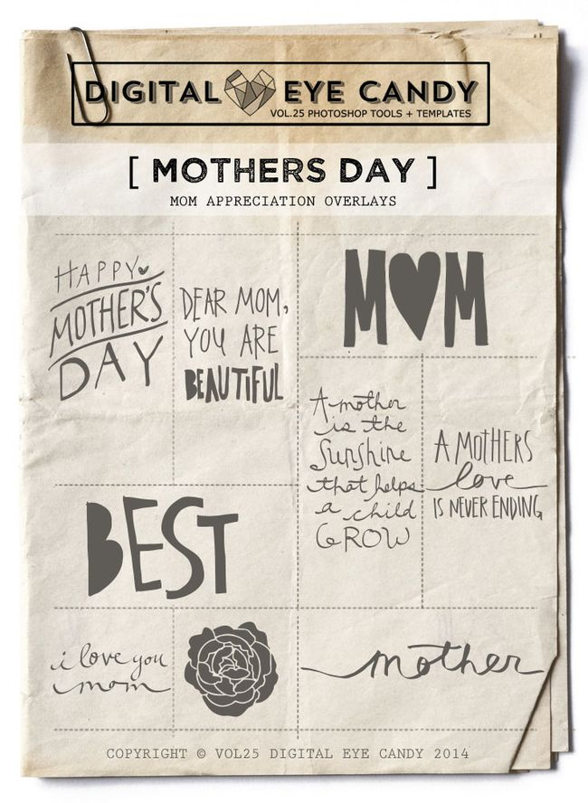 MOTHERS DAY OVERLAY SET BY VOL25