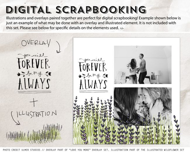 SCRAPBOOK EXAMPLE ILLUSTRATED