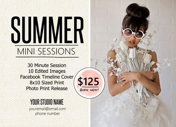 Vol25 free mini session marketing template for photographers for Free mini session templates for photography