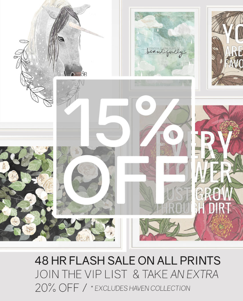 FLASH SALE PRINTS HAVEN BLOG