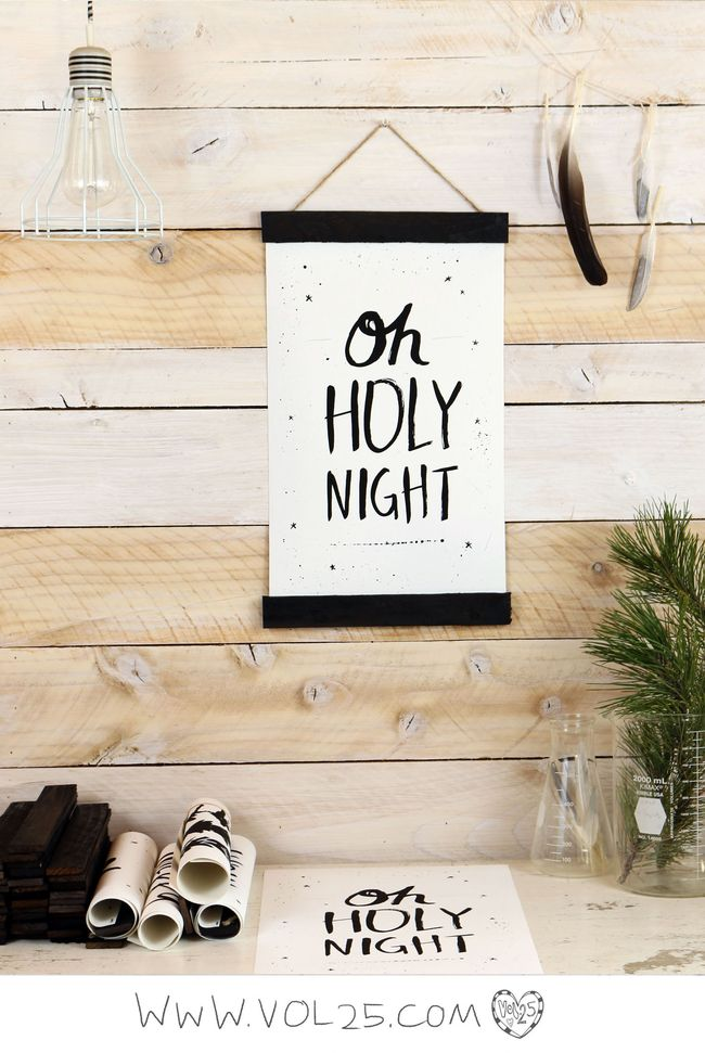 Oh holy night Holiday wall hanging by vol25