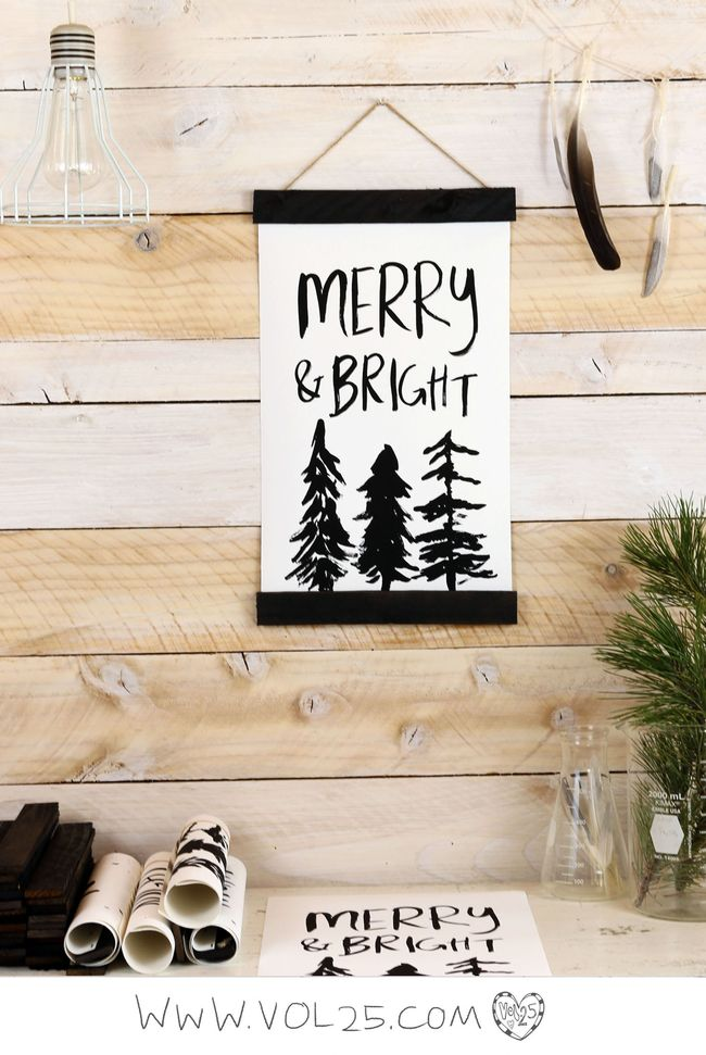 Merry & Bright Holiday wall hanging by vol25