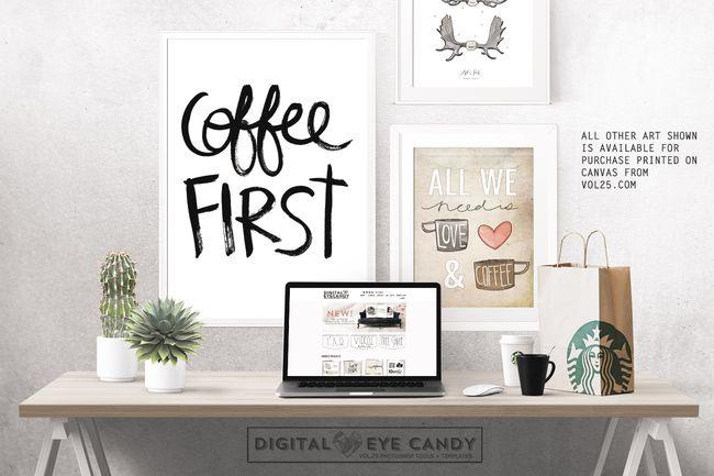 COFFEE FIRST PRINTABLE BY DIGITAL EYE CANDY