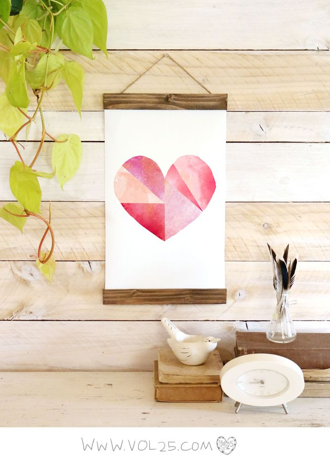 GEOMETRIC WATERCOLOR HEART